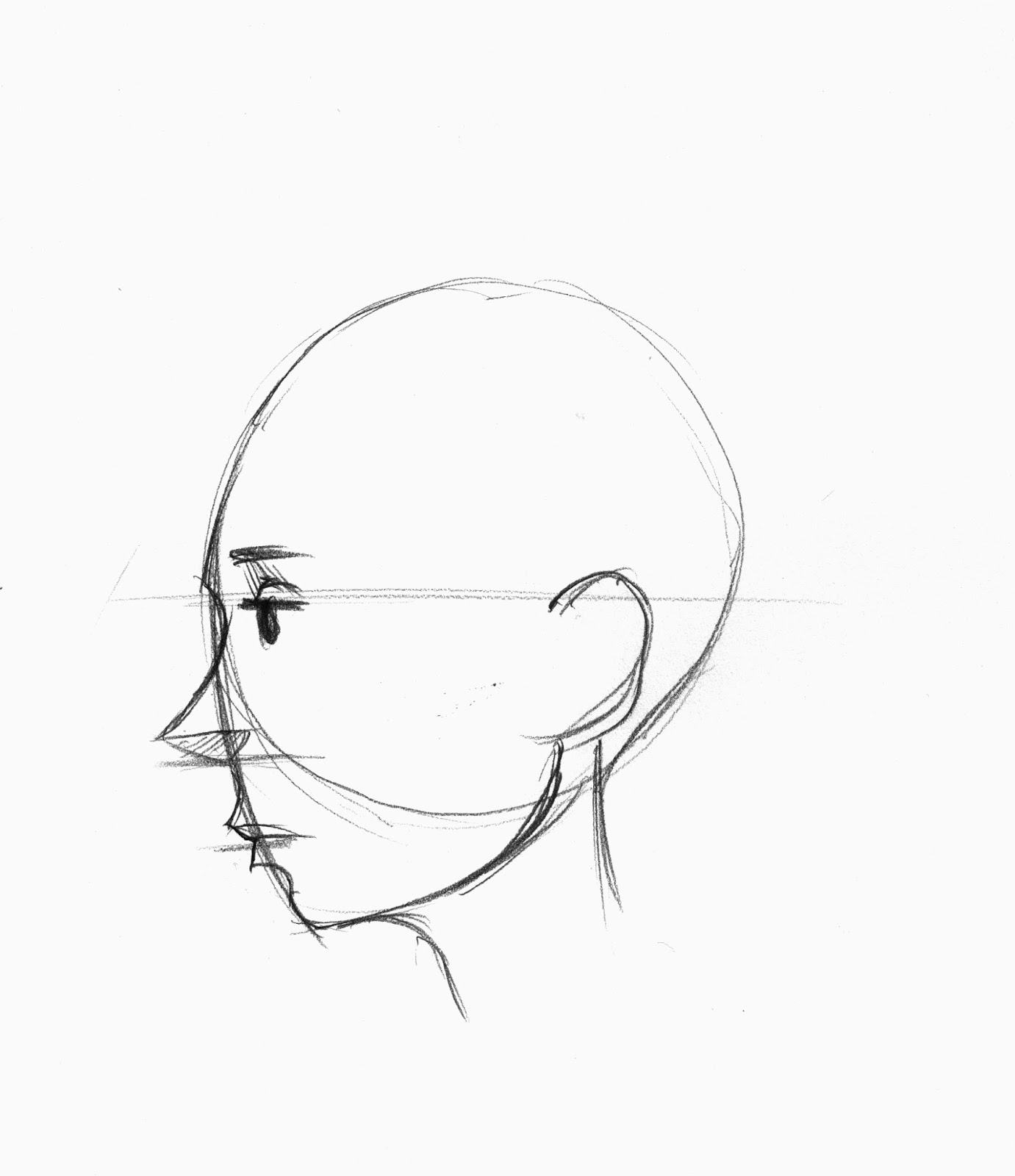 Line Drawing Face Profile : Brett helquist drawing lesson how to draw a face in profile