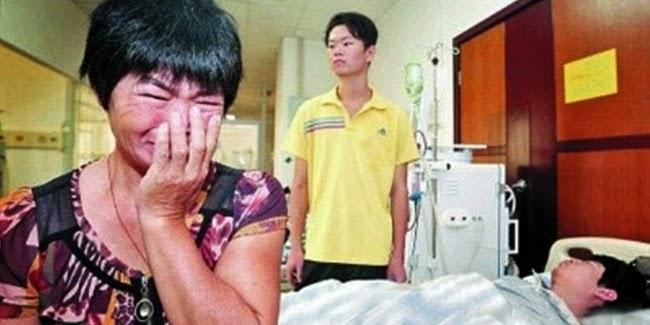 Ibu Liang Ronghua Dan Anak