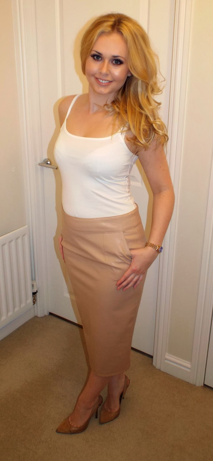 River Island Leather Look Skirt