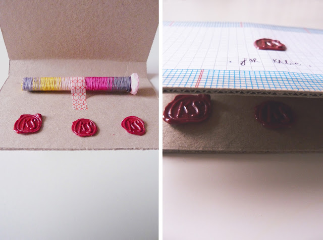wax seal, gradient colours, wax seal tutorial, handmade gift