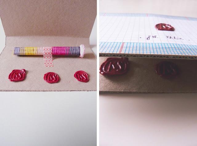 wax seal, gradient colours, wax seal tutorial, handmade gift