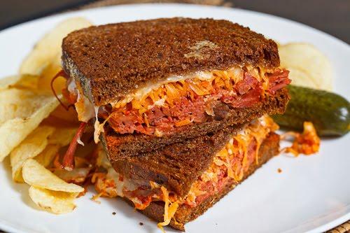 Kimchi Reuben Sandwich on Closet Cooking