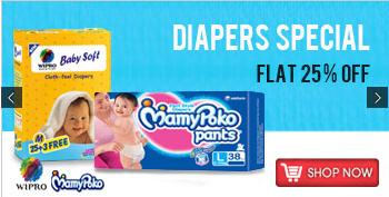 Shopclues : Diaper Flat 25 % off