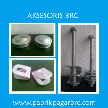 Jual Aksesoris Pagar BRC Harga Murah, Info Harga Besi, Pabrik, Distributor Jakarta.