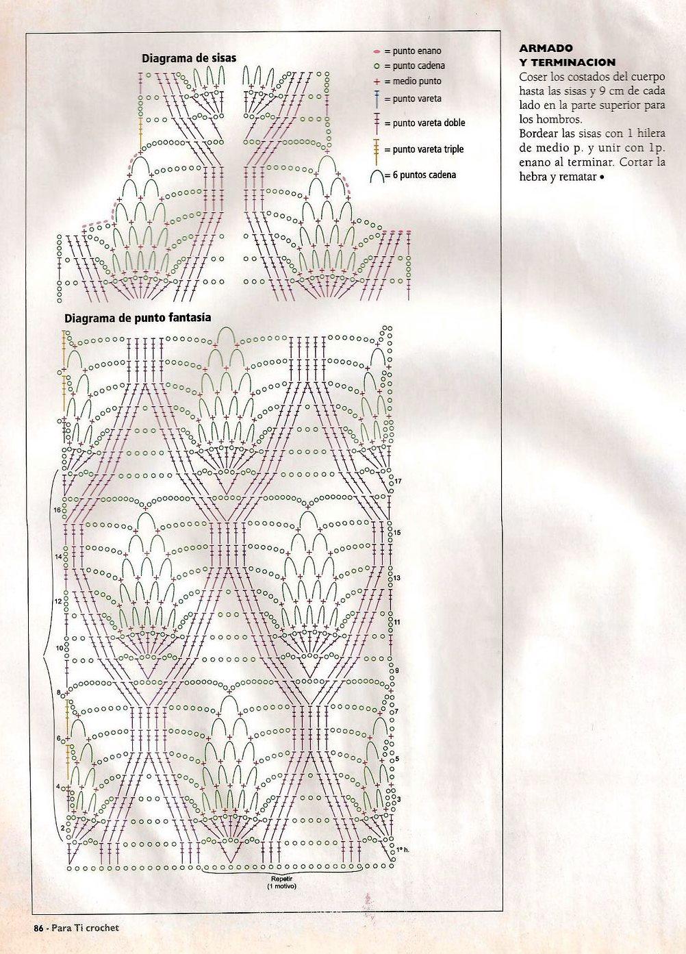 Mis labores en Crochet: Bluson de piñas