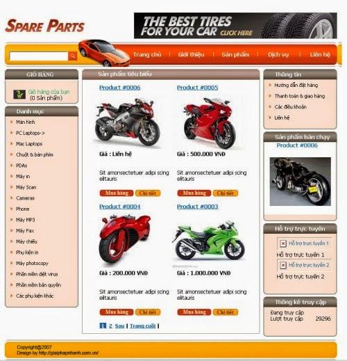 thiết kế web bán hàng ô tô