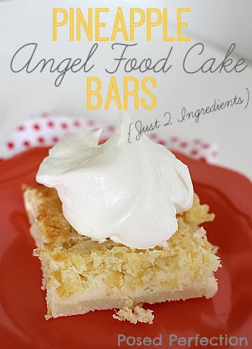 2 Ingredient Pineapple Angel Food Cake Bars