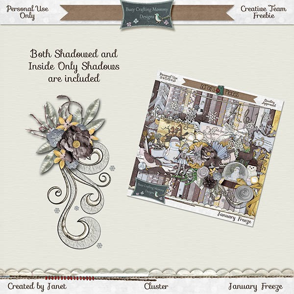 January Freeze and Some Great New Templates from Busy Crafting Mommy Designs - and I have a Freebie for You!