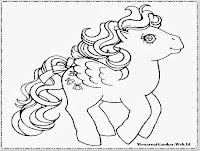 mewarnai gambar my little pony