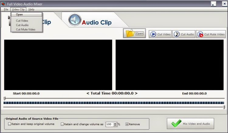 Video Audio Mixer برنامج تركيب و قص الفيديوهات و الاغاني