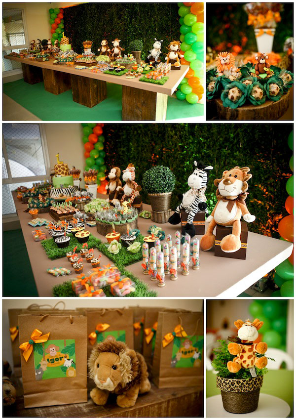 decoracao festa safari:Madagascar Theme Birthday Party
