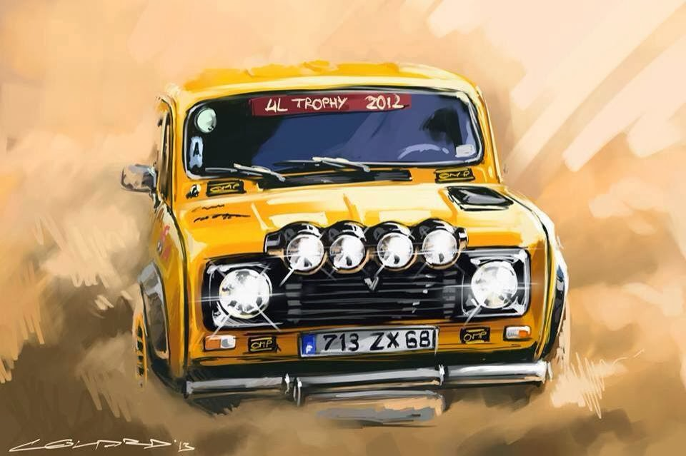 Landspeed Blog Renault 4l Trophy Artwork