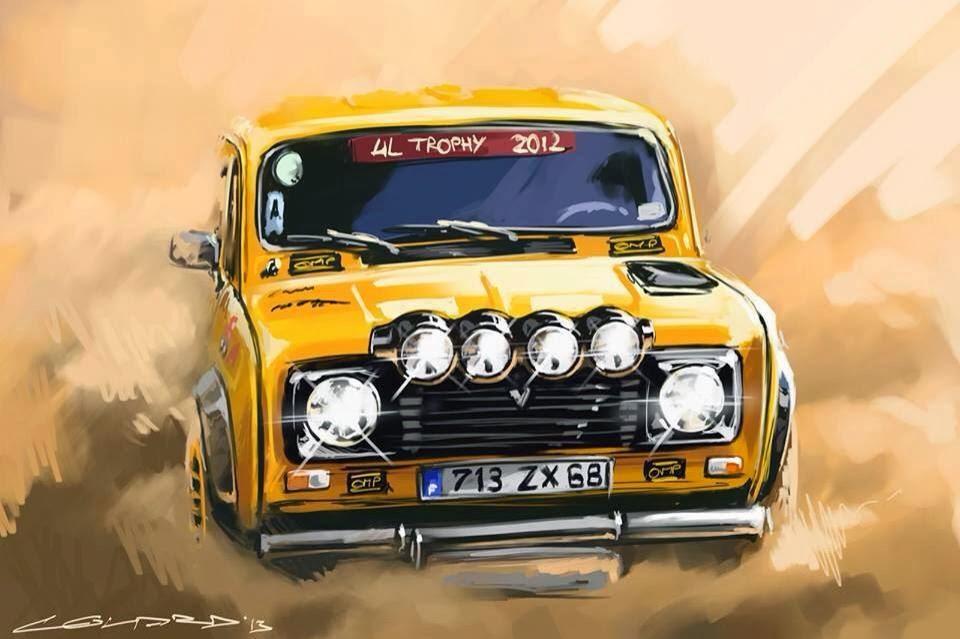 Landspeed Blog Renault 4l Trophy Artwork