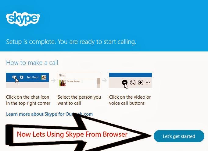 Skype web plug-in