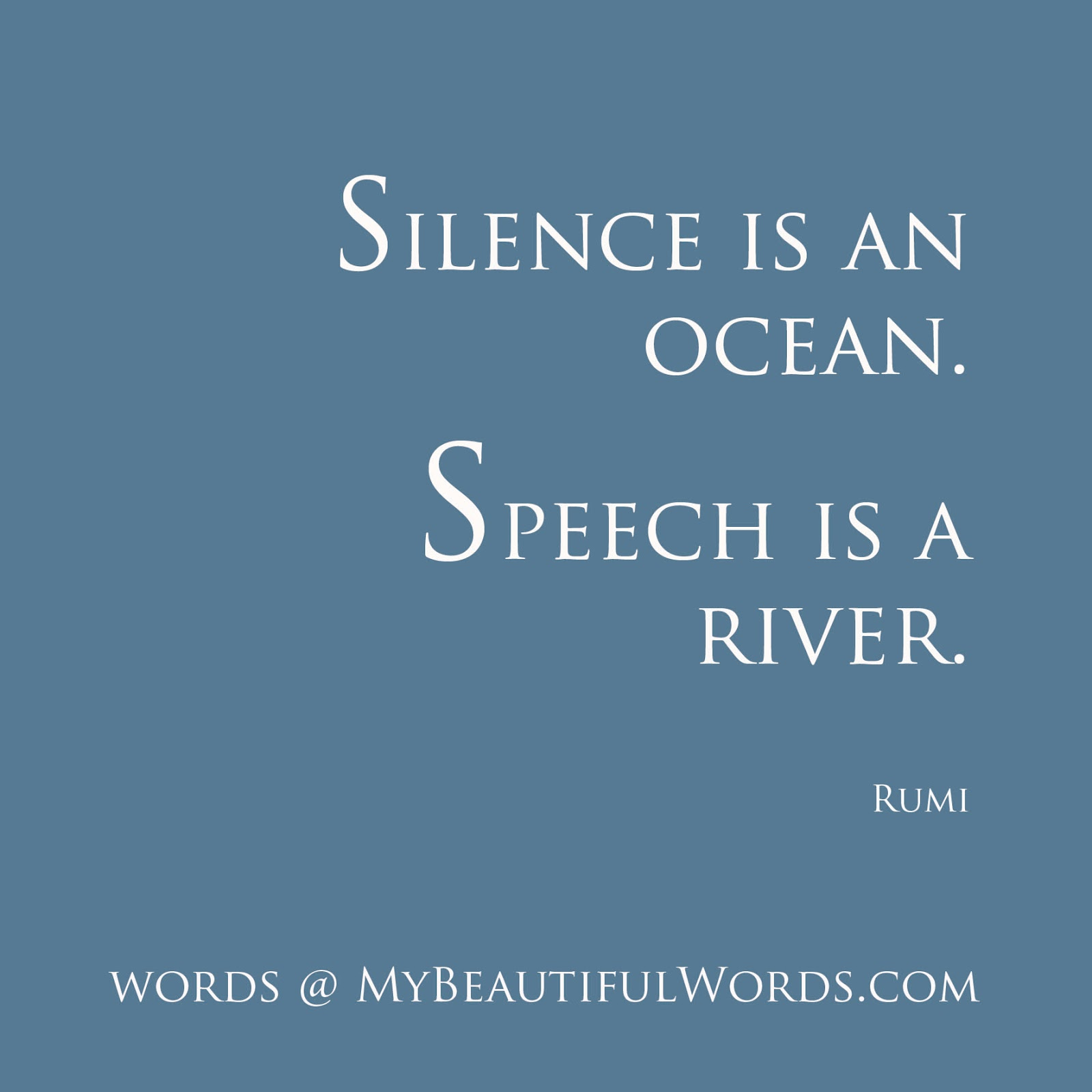 My Beautiful Words.: Silence is an Ocean... I Am Quiet Quotes