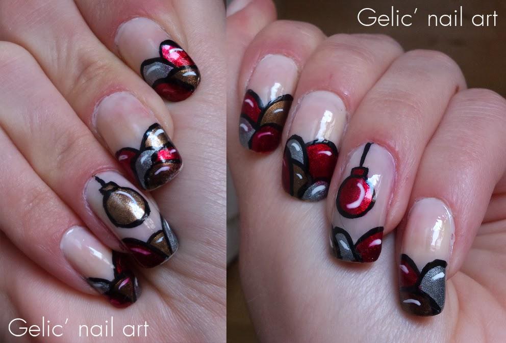 christmas ornament nail art - photo #4