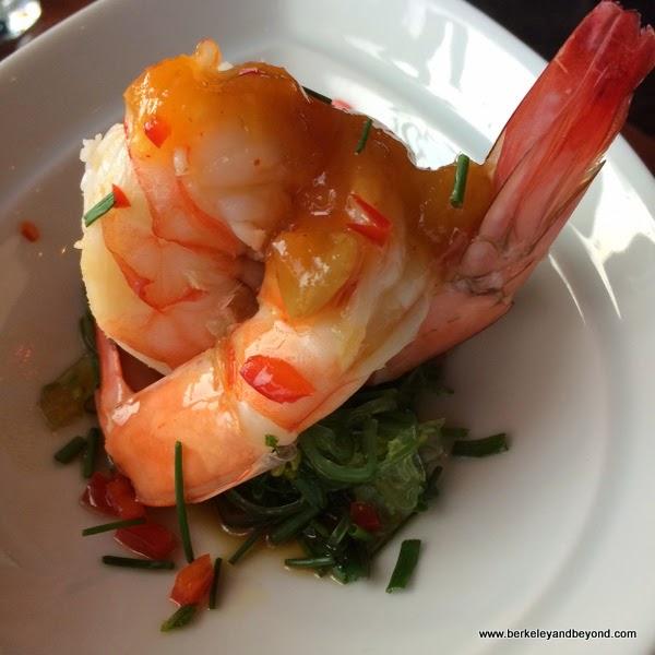 Poached Shrimp & Seaweed at Bobo's Lounge in San Francisco