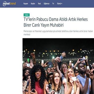 trend mynet com - tv'lerin pabucu dama atıldı artık herkes birer canlı yayın muhabiri