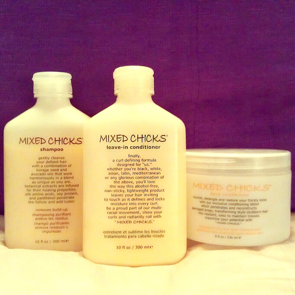 Curly Hair Products - Mixed Chicks Learn how Mixed Chicks curly hair products will define your curls by locking in moisture. Leave-In Conditioner.