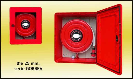 BIE 25 mm, boca de incendio, PVC inoxidable