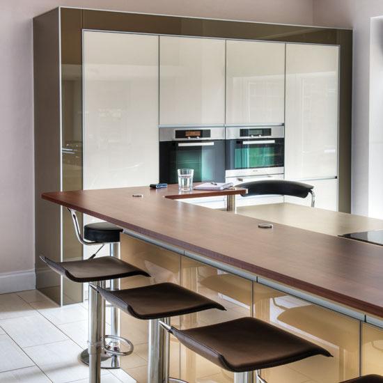 New Home Interior Design Take A Tour Around This Dark Red Contemporary Kitchen