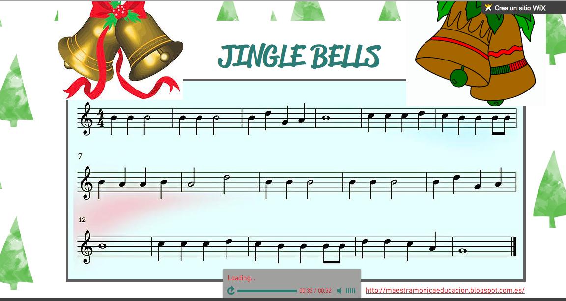 Maestra Monica Partitura Wix Jingle Bells Para Flauta