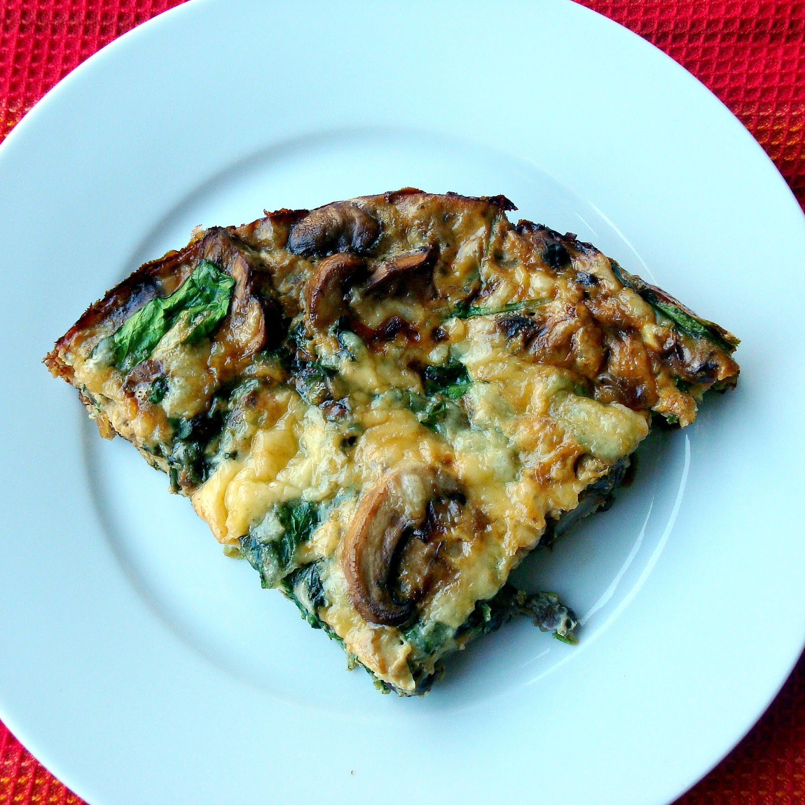 Mushroom and Spinach Frittata with Smoked Gouda - Alida's Kitchen