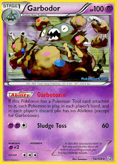 Garbodor Dragons Exalted Pokemon Card