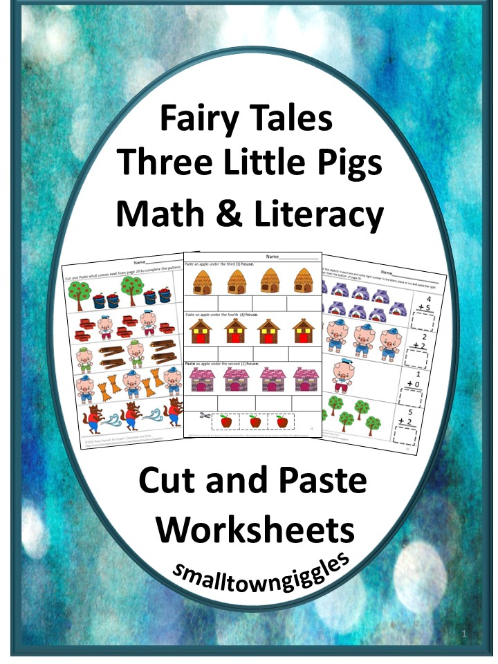 The Three Little Pigs Cut and Paste Worksheets