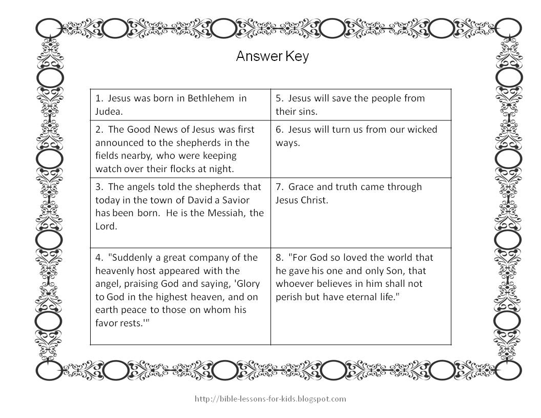 bible lessons for kids christmas question cards for games and