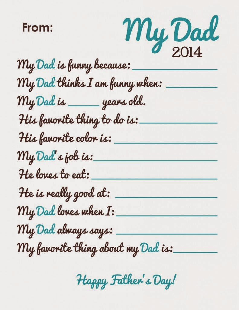 This is an image of Divine Dad Questionnaire Printable