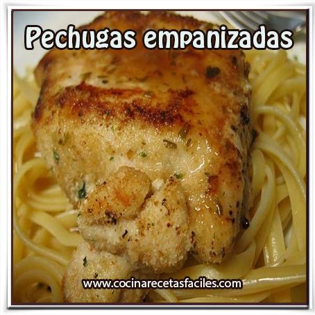 Recetas de pollo , receta de pechugas empanizadas