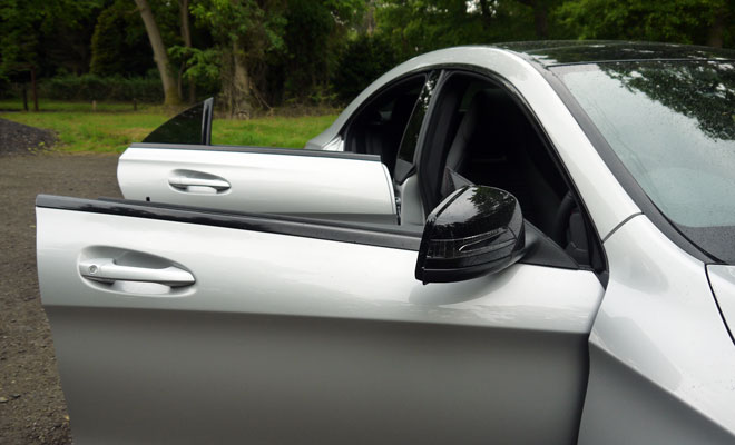 Mercedes CLA frameless doors
