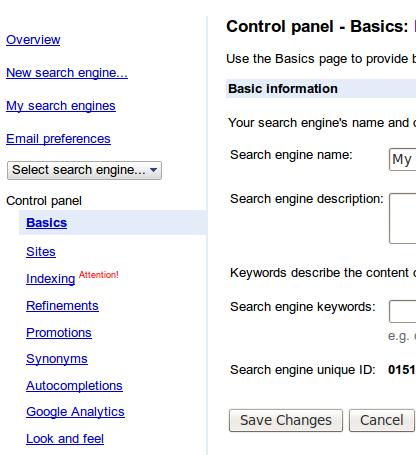 Google Search Widget