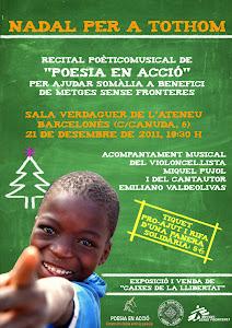 NUEVO RECITAL DE POESÍA EL 21-12-2011 EN EL ATENEO DE BARCELONA EN AYUDA A SOMALIA