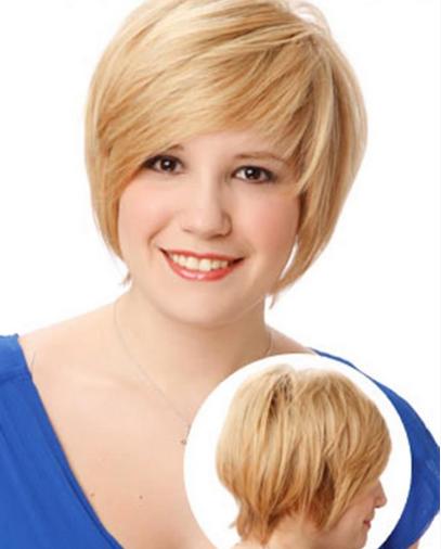 Contoh Rambut Kriting Gantung Untuk Wanita Gemuk - Gaya rambut pendek orang gendut