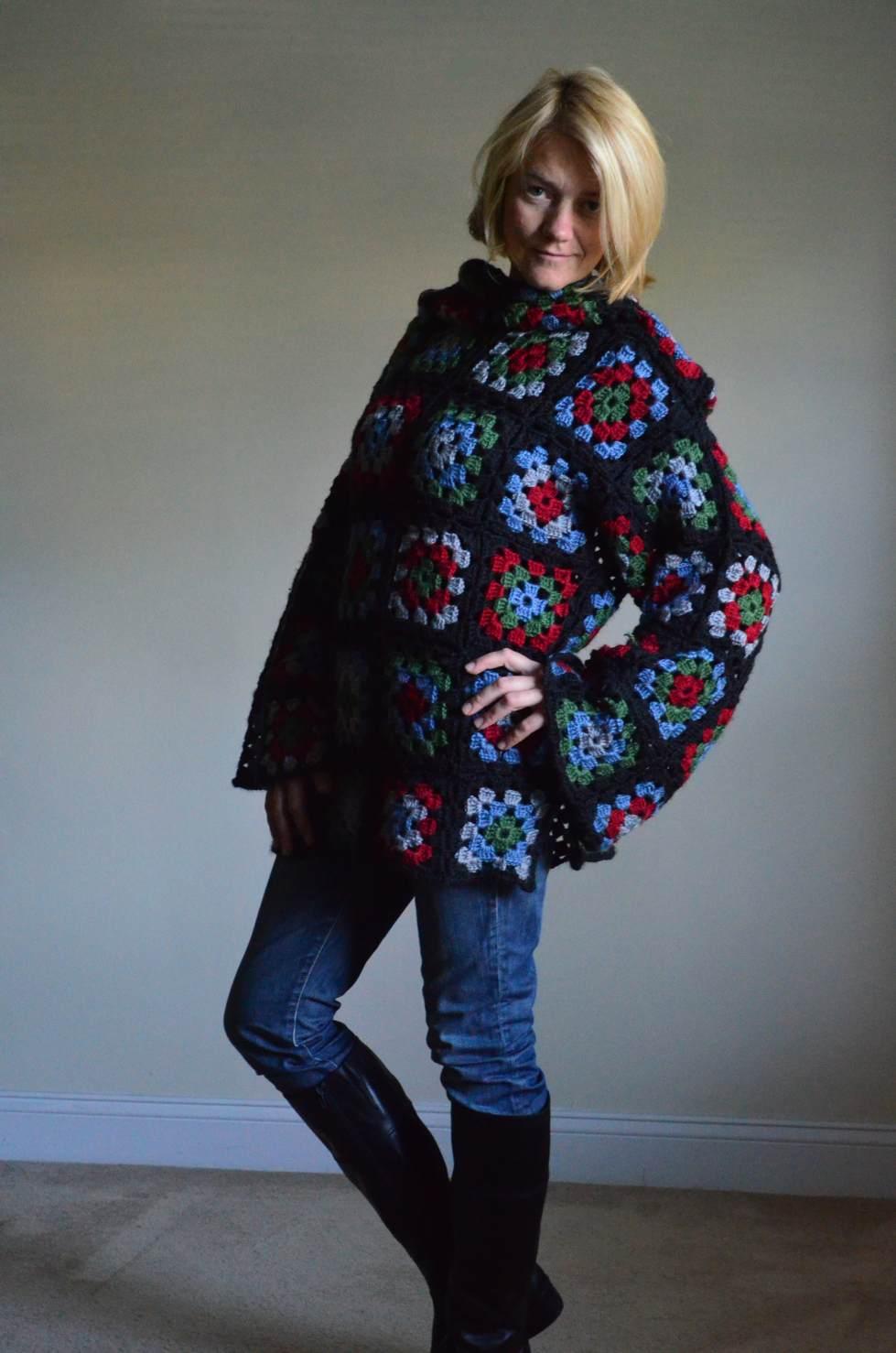 Granny squares pullover.