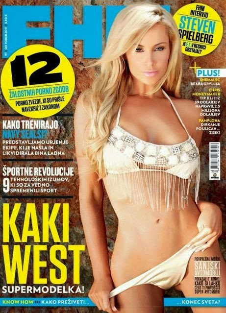 FHM Slovenia Cover Model Kaki West