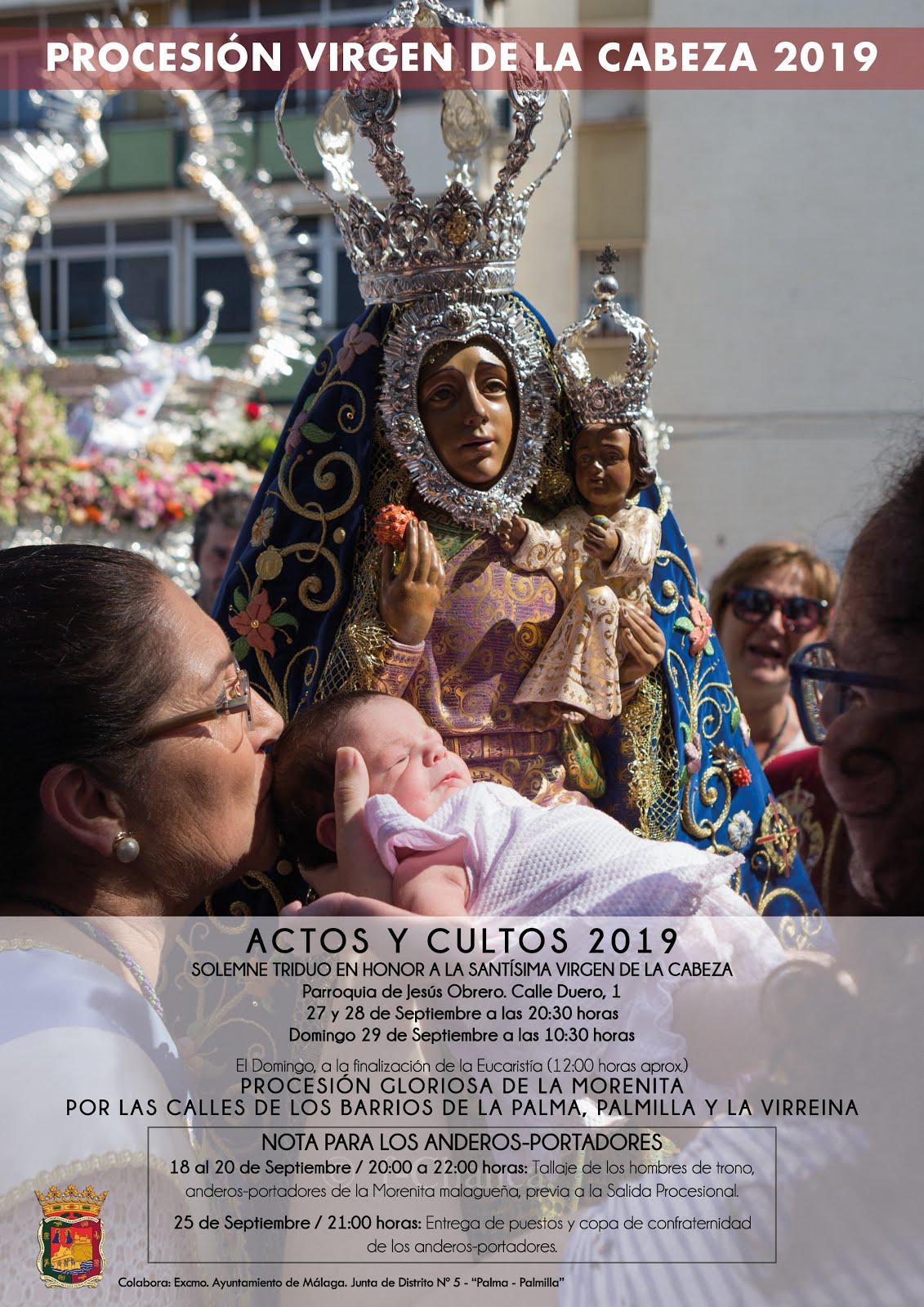 Detalle Cultos y Actos PROCESIÓN 2019