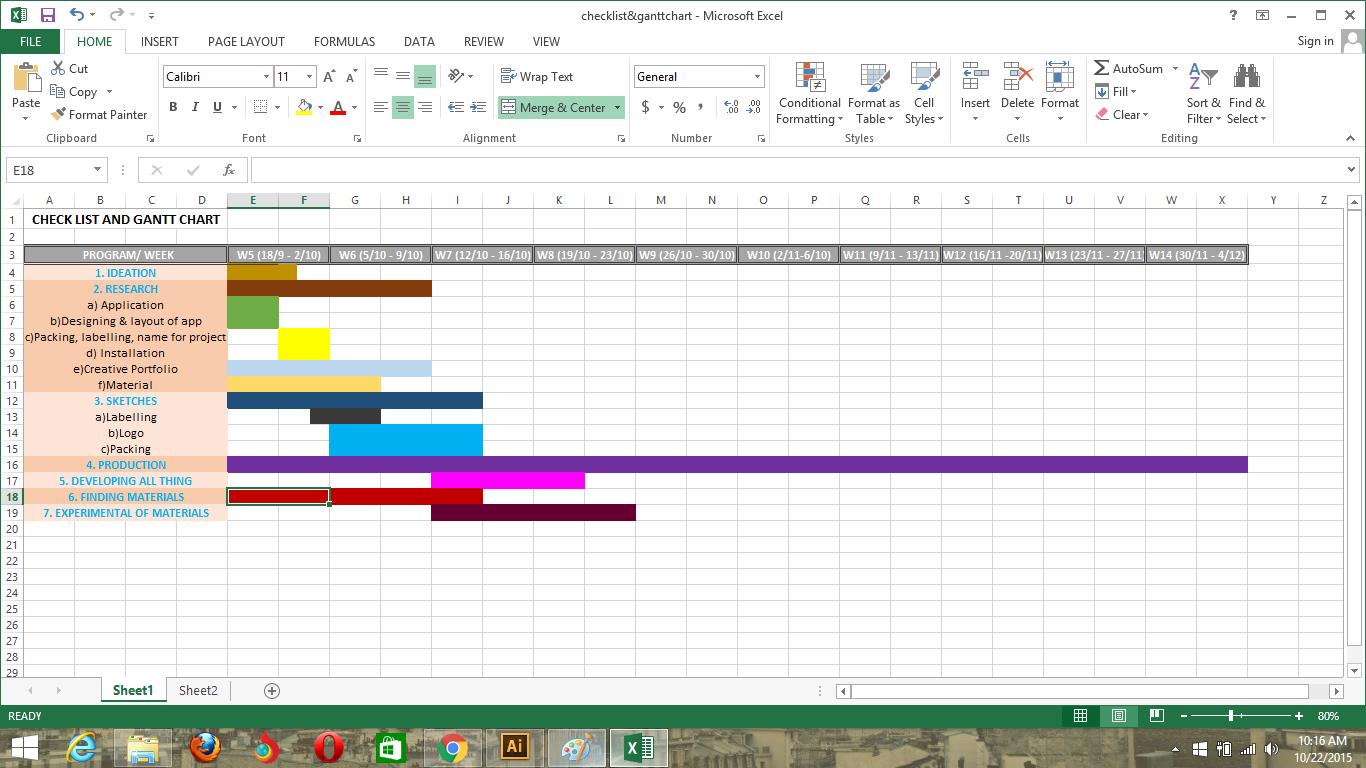 Gantt chart and checklist tyhatiramisu below is my gantt chart nvjuhfo Gallery