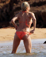 Cameron Diaz Orange Bikini Hawaii