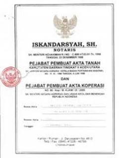 Contoh Akta Pendirian Perusahaan