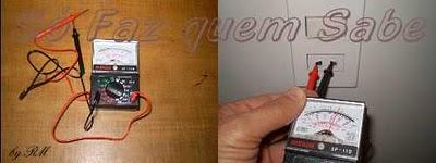 Voltímetro, aparelho usado para medir a tensão elétrica de uma instalação