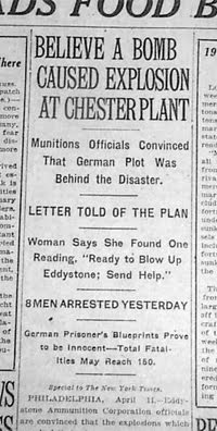 Eddystone Disaster of 1917
