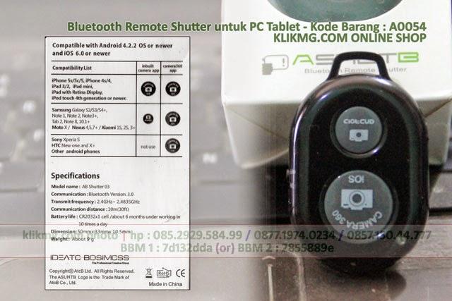 Bluetooth Remote Shutter untuk PC Tablet - Kode Barang : A0054 | Narsis Pake Tomsis nggak pas kalo tanpa tombol :) - Taking a Better Selfie