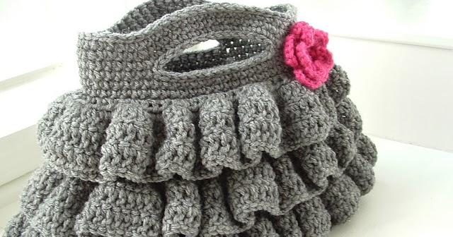 Crochet Flowers Tutorial By Carmen Heffernan : Diva Tube: [DIY] Ruffled Crochet Bag