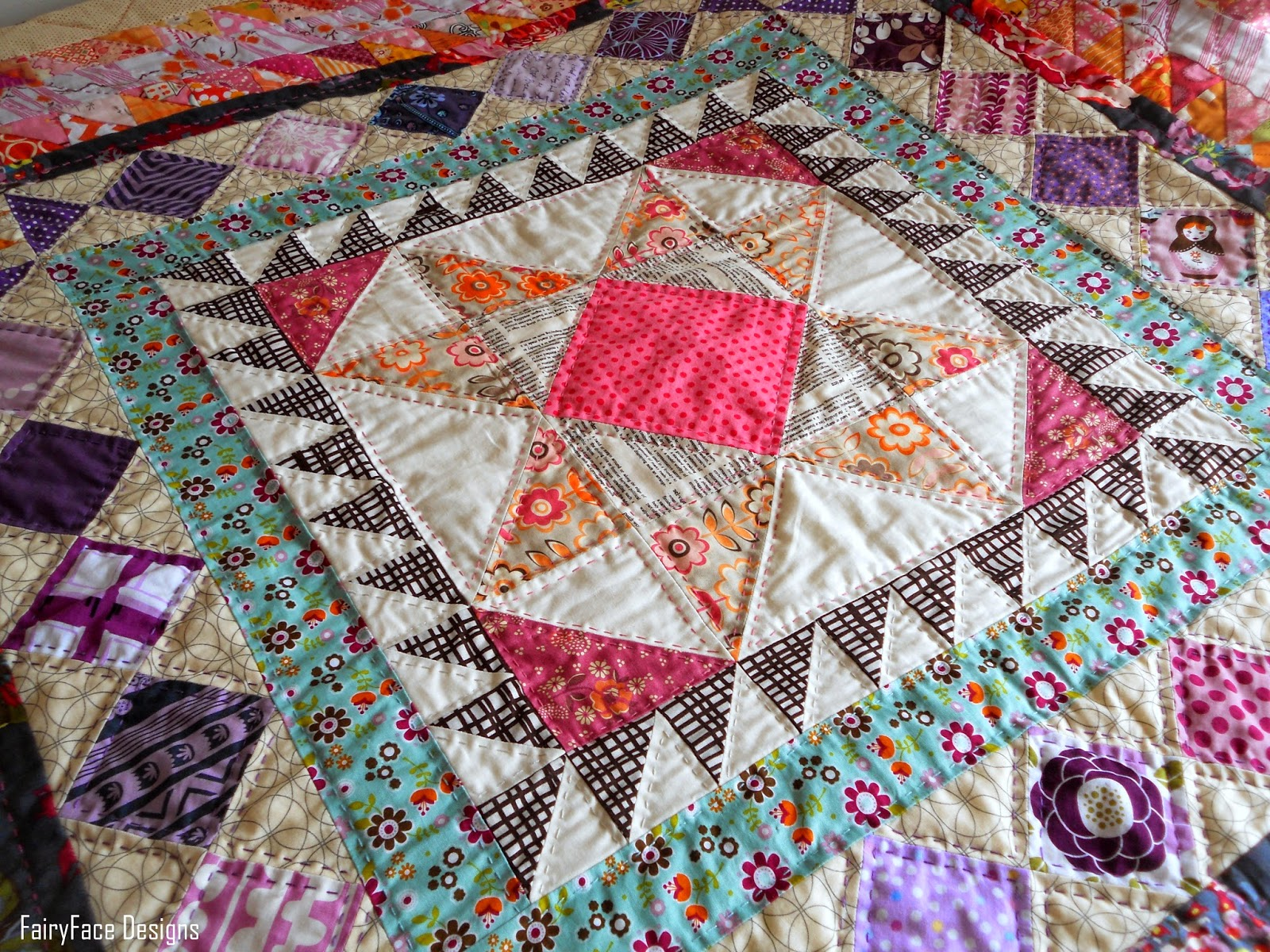 FairyFace Designs: A Made to Measure Medallion Finish : hand quilted quilts - Adamdwight.com