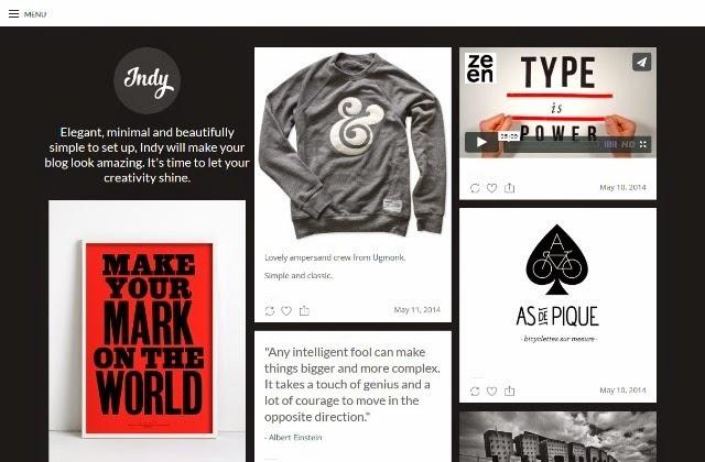 Indy - Minimal Free Tumblr Theme