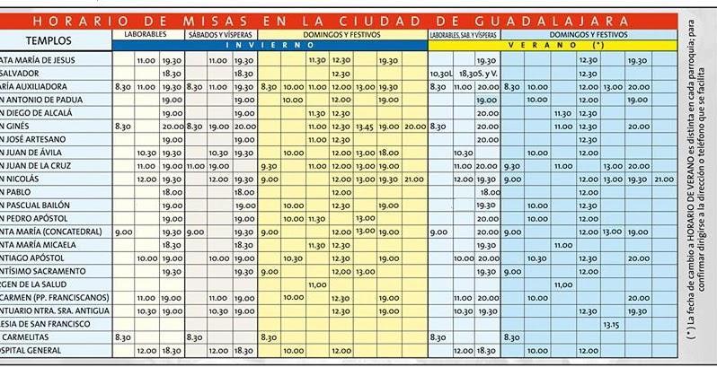Parroquia de cabanillas del campo horario de misas en for Horario ministerio del interior