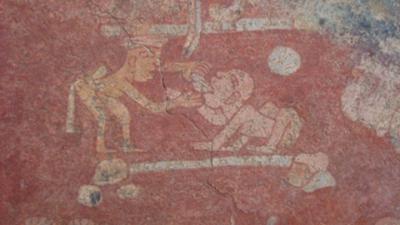 Mural Maya practica de la odontologia